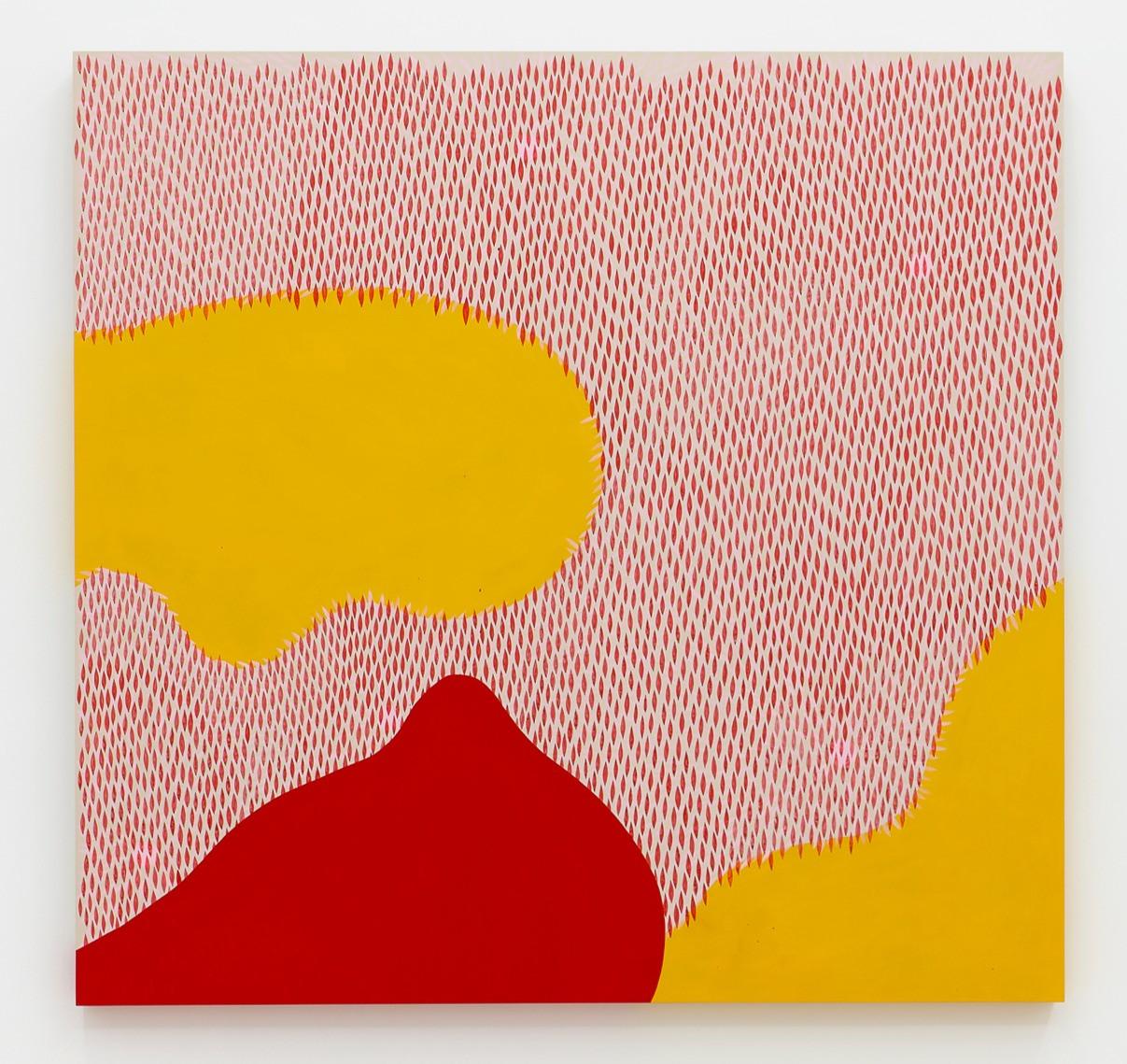 Julia Chiang  Mush More, 2020   Acrylic on wood panel  48 x 48 inches