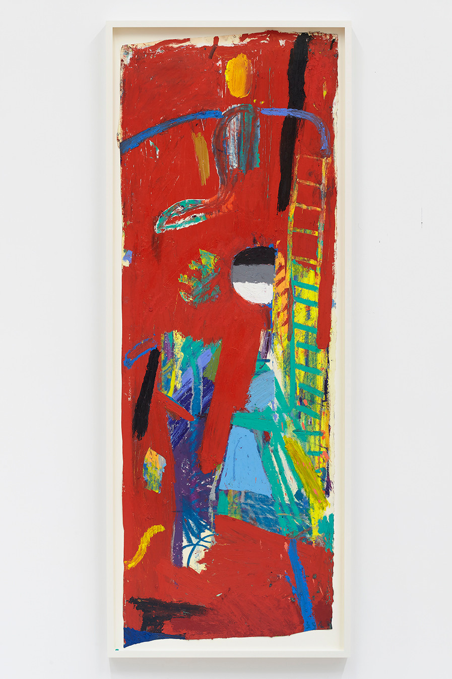 Spencer Sweeney Trapeze, 2020Oil pastel, oil stick and spray paint on paper67 x 24 1/4 inches70.5 x 27 inches (framed)
