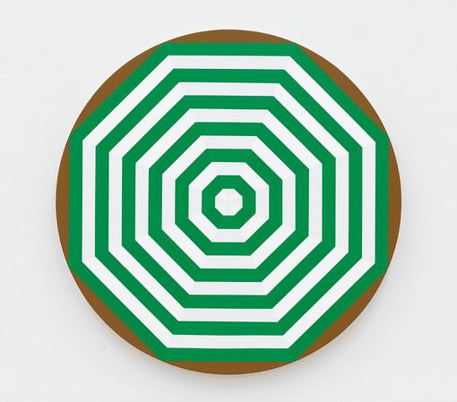 Shawn Powell  Beach Umbrella (Green), 2021  Acrylic on canvas  30 x 30 inches