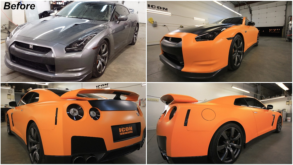 Icon Tinting and Graphics Complete GTR Vinyl Vehicle Wrap