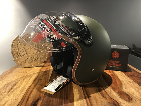 CASQUE OFFICIEL ROYAL ENFIELD JET BATTLE GREEN