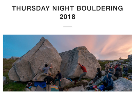 Thursday Night Bouldering's Past