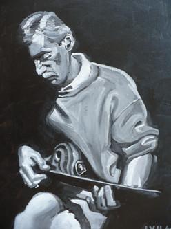 Man WIth Guitar (2004)  Acrylic 11x14