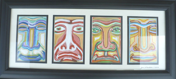 Faces (2010) Acrylic