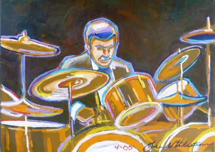 Louie Bellson (2005)  Acrylic 12x16