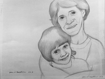 Lisa & Her Younger Self (2018) Pencil