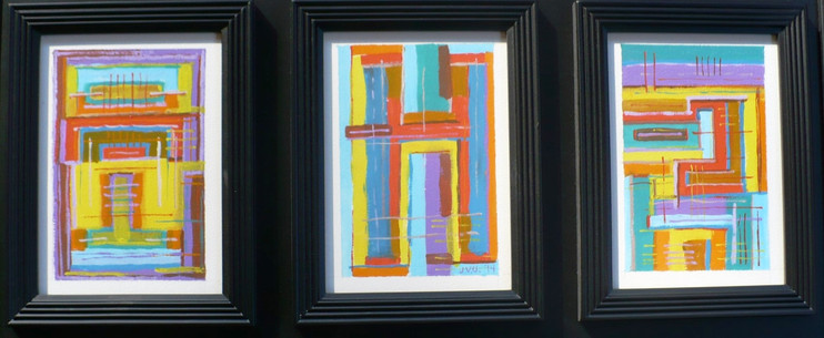 Abstract Tryptic (2014)  Acrylic 5x7