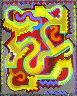 Abstract (2014)  Acrylic 8x10