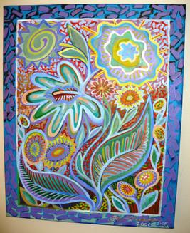 Flowers (2006)  Acrylic 16x20