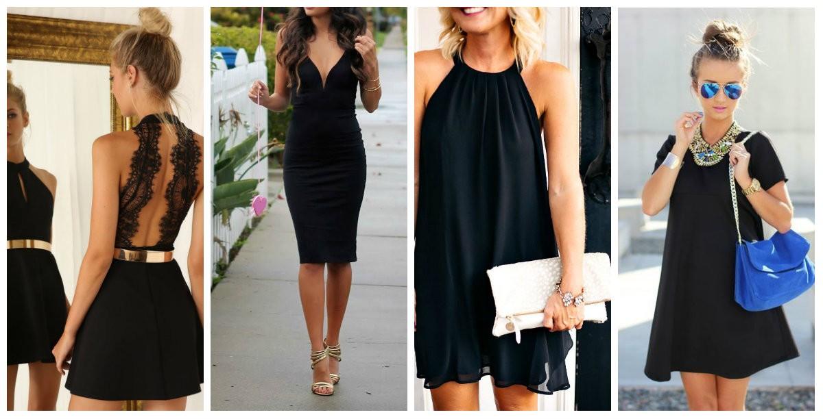 Zapatos para un vestido negro ala rodilla