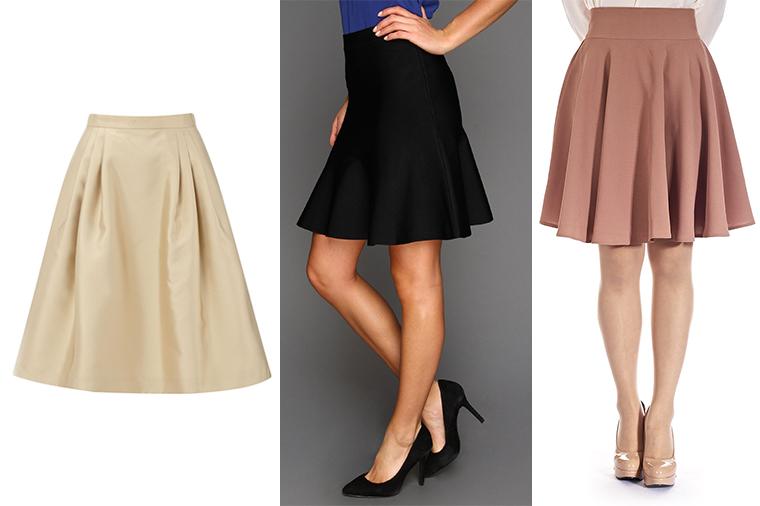 Usa faldas y vestidos tipo A