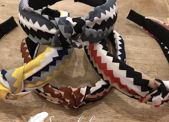 Chevron knotted headband