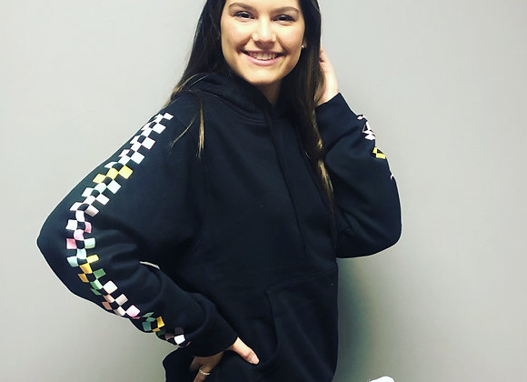 Colorful checkered hoodie