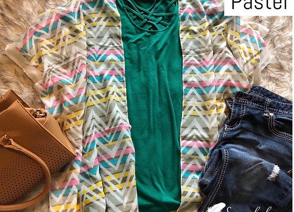 Chevron Print Kimono