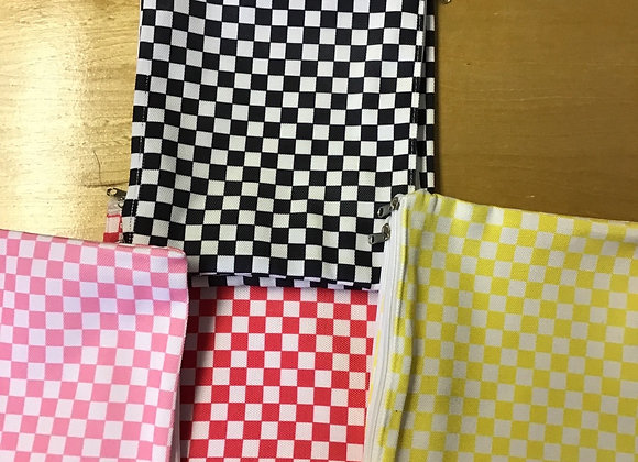 Checkered pouch