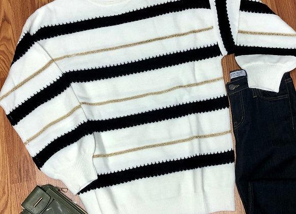 Ivory striped sweater