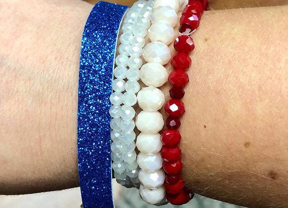 Patriotic bracelet bundle