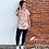 Thumbnail: Peach floral hoodie