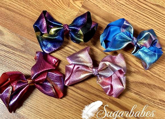 Shiny multi color bow