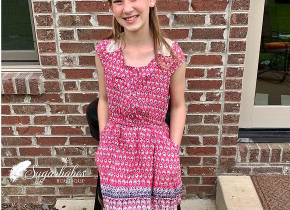 Girl's pink lightweight dress