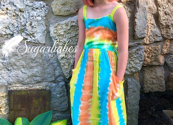 Girl's tie dye dress