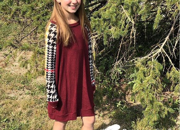 Maroon contrast dress
