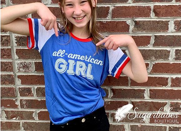 All-American girl tee