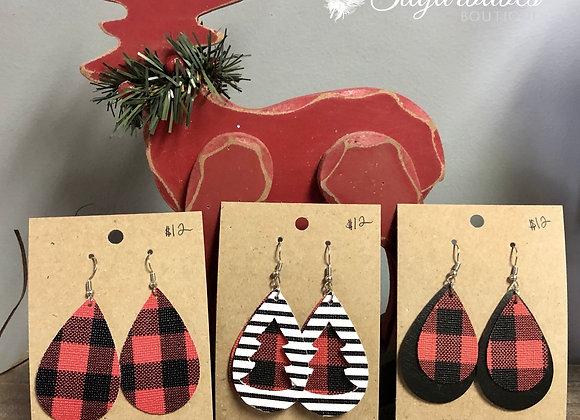 TES Christmas earrings