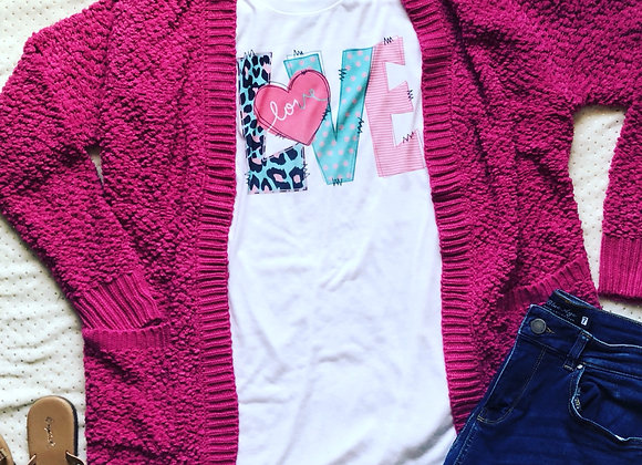 Hot Pink Popcorn Sweater