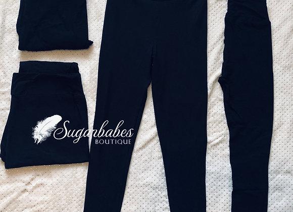 Teen black leggings