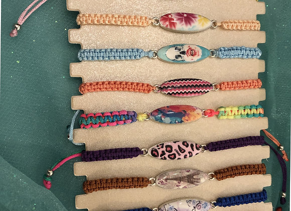 Girls stone charm bracelet
