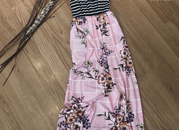 Girls floral/striped maxi dress