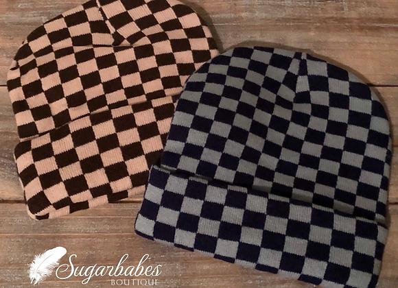 Checkered Beanies