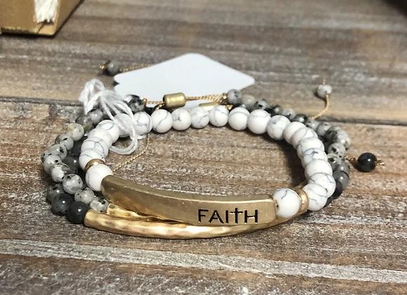Faith stone bracelet bundle