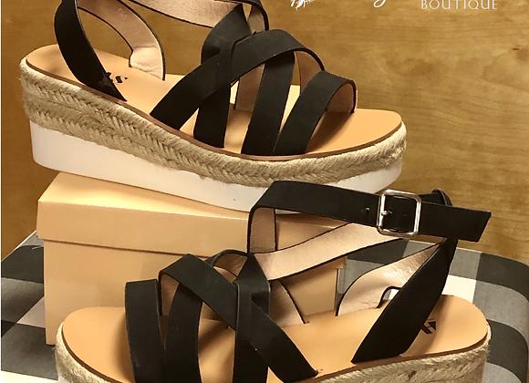 Black strapy sandals