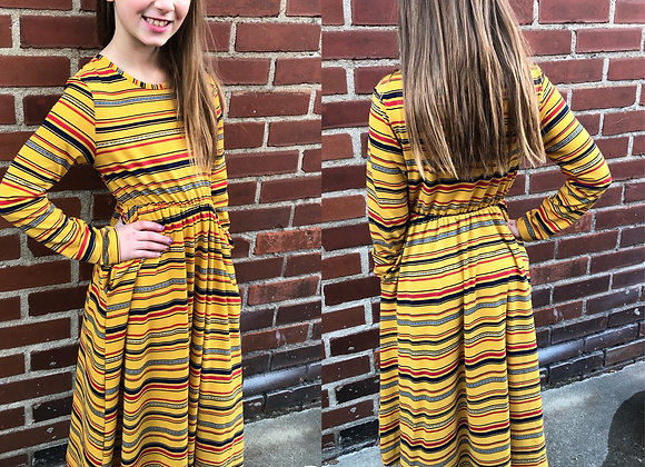 Mustard striped dress