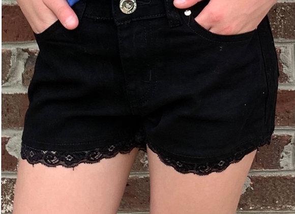 Girl's black shorts