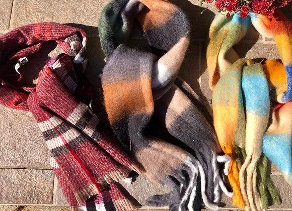 Super soft fringe scarf