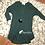 Thumbnail: Dark green 3/4 sleeve tunic