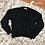 Thumbnail: Fuzzy chenille black sweater