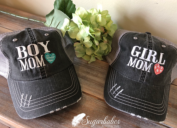 Boy/Girl mom hat