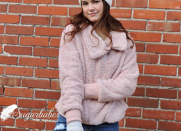 Sherpa side zip pullover