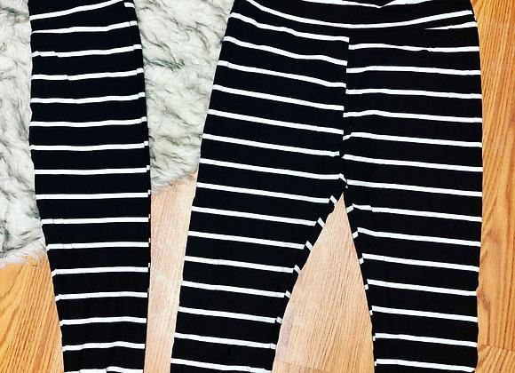 Teen striped capri leggings