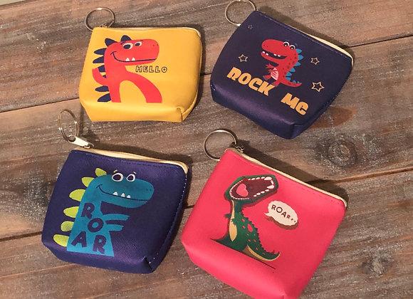 Dinosaur coin pouch