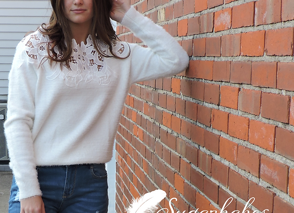 Ivory Lace Sweater