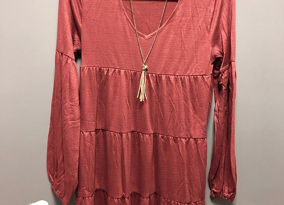 Babydoll long sleeve dress
