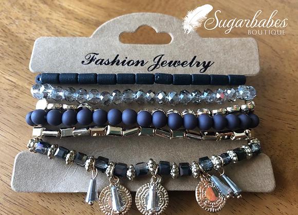 Assorted Beaded Stretch Bracelet Set