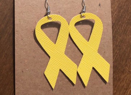 Kids Cancer Awareness Earrings