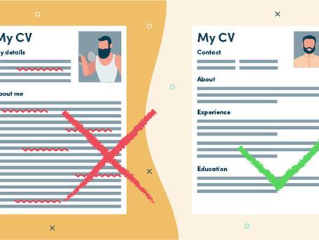 8 CV errors you must avoid!