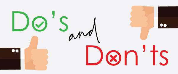 Do's and dont's, Single Source Recruitment, Gloucestershire Recruitment, Tewkesbury Recruitment